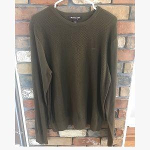 Michael Kors Olive Green Long Sleeve Sweater NWT